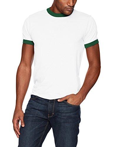 Augusta Sportswear Herren Ringer T-Shirt XL White/Dark Green -