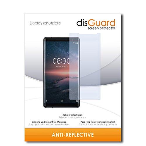 disGuard® Bildschirmschutzfolie [Anti-Reflex] kompatibel mit Nokia 8 Sirocco [2 Stück] Entspiegelnd, Matt, Antireflektierend, Extrem Kratzfest, Anti-Fingerabdruck - Panzerglas Folie, Schutzfolie