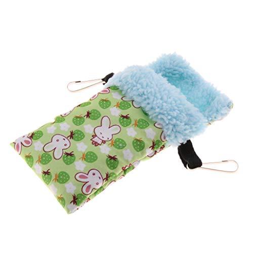 B Blesiya Kleintiere Kuschelsack Baumwolle Schlafsack zum Aufhängen für Hamster Eichhörnchen Chinchilla Meerschweinchen Ratte Maus - Grün (Grüne Ratten)