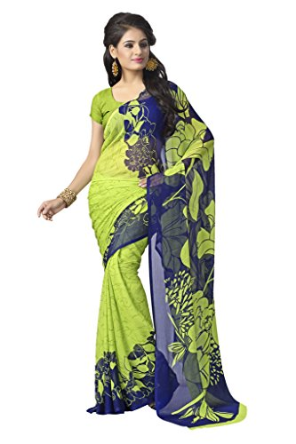 Vaamsi Women's Chiffon Saree With Blouse Piece(Rolex3072_Multicolor_Free Size)