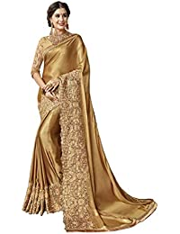 Magneitta Women's Designer Embroidered Saree Sari with Blouse Piece
