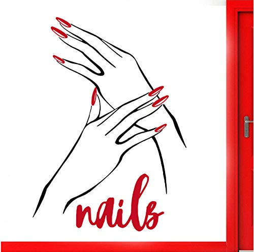 Wandaufkleber Nail Beauty Salon Decal Manicure Nails Art Vinyl Sticker Nail Shop Poster Wallpaper Murals Beauty Salons Wall Decor DIY 41 * 57cm -