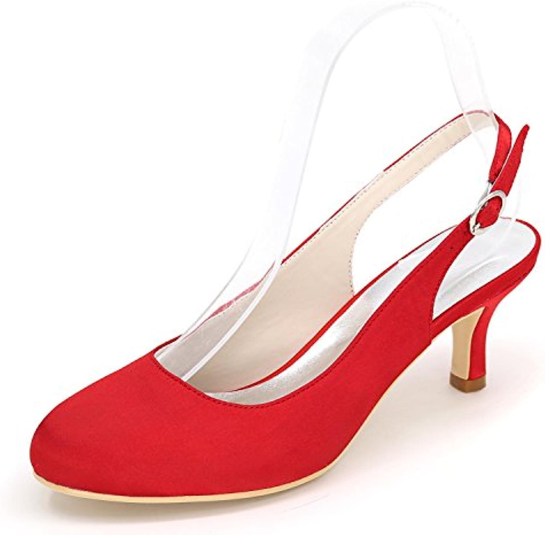 Elobaby Scarpe da Sposa da da da Donna 1195-02 Scarpe da Cerimonia Corte A Punta di Abiti Fatti A Mano Raso di Tacco... | Outlet Online  | Maschio/Ragazze Scarpa  079eca