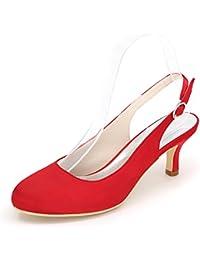 Elobaby Frauen Hochzeit Schuhe 1195-02 Handgemachte Kleid Wies Partei Braut/9cm Heel Satin/Court Schuhe