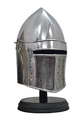 Barbute Helmet Medieval Armor Replica With Stand