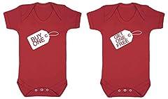 Idea Regalo - Body da neonati per gemelli con la scritta