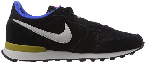 Nike Internationalist Leather, Chaussons Sneaker Homme Noir (Black/Granite/Bronzine)