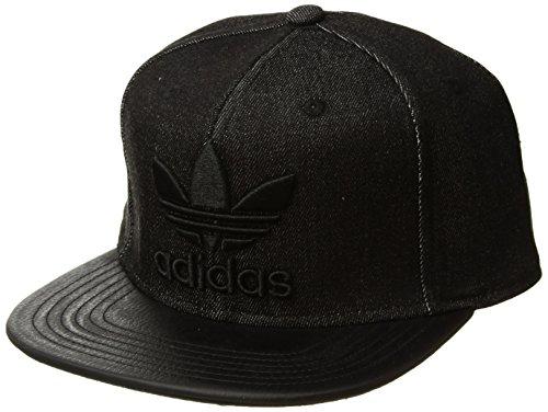 adidas Herren Originals Trefoil Kette Snapback, Herren, Black Denim/Black - Black Label-denim