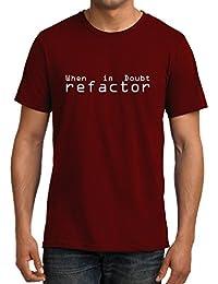 GeekDawn Men's Round Neck Geek T-Shirt|Unix T-Shirt|Coder T-Shirt|Programmer T-Shirt|Java T-Shirt-Refactor