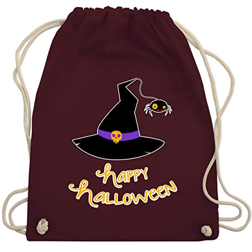 Halloween - Hexenhut Happy Halloween - Unisize - Bordeauxrot - WM110 - Turnbeutel & Gym Bag (Ideen Kreative Herren-halloween-kostüme)