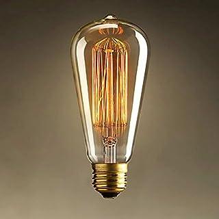 akldigital Old Fashioned Edison Style Dimmble Vintage Light Bulb 60W Screw - Squirrel Cage Filament E27