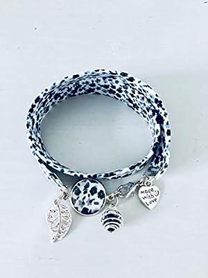 Bracelet Liberty fleuri, bijou Liberty, bracelet en tissu liberty, idée cadeau, bracelet parfum, bijou, bracelet fleuri, bijou Liberty