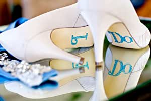 Mindy Weiss I Do Rhinestone Shoe Applique Stickers - For Wedding Shoes