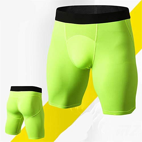 Swallowuk Herren Sport Hose kurz Sportswear Quick-Dry-Funktion Pro Base Layer Unterwäsche Kompressionsshort Unterwäsche Fitness Shorts (XS, Grün)