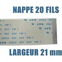 KALEA-informatique-Mantel ©-Manguera plana///20 hilos, longitud 200 mm, anchura 21/mm/para utilización electrónico o informático (conectores ZIF wire-to-board-) tipo AWM-CABLE FLEX FPP RIBBON