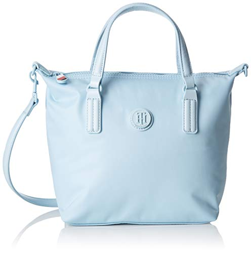 Tommy Hilfiger - Poppy Small Tote, Bolsos totes Mujer, Azul (Omphalodes), 23x15x22 cm (B x H T)