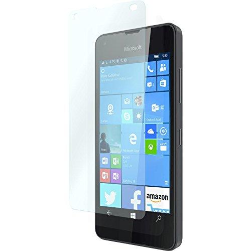 3 x Glas-Folie klar für Microsoft Lumia 550 PhoneNatic Panzerglas für Lumia 550
