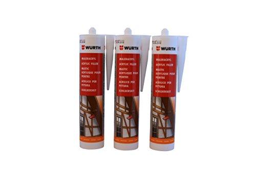 wurth-3-unidades-pintor-de-acrilico-silicona-weiss-310-ml-cartucho-fensterverglasung-sellado-dehnfug