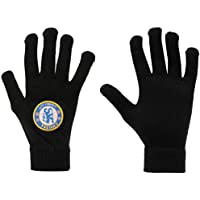 Official Football Merchandise - Guantes de punto, varios equipos a elegir, Junior Size/Chelsea F.C Football club