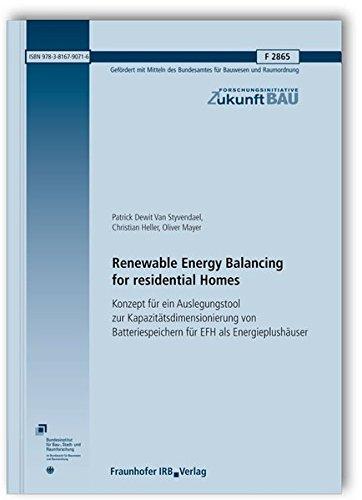 Renewable Energy Balancing for residential Homes.: Enthält CD mit einem Excel-Tool (Bestandteil nur bei der gedruckten Version). Konzept für ein ... (Forschungsinitiative Zukunft Bau) (Mit Excel Engineering)