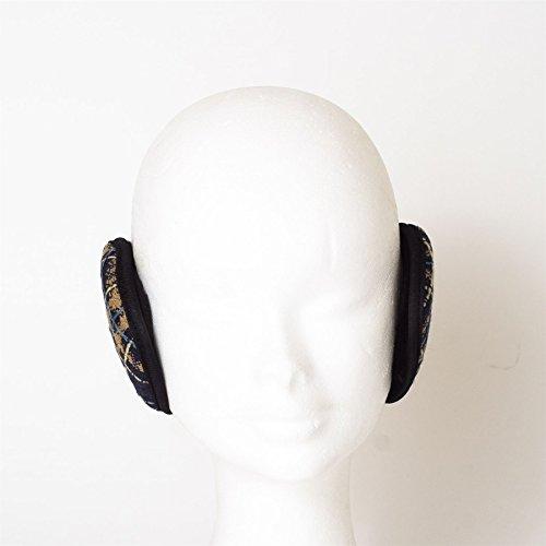 Protège-oreilles cache-oreilles chauffe oreille protecteur toison doux à carreaux Bleu Marine