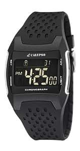 Calypso - K5563/1 - Montre Homme - Quartz Digitale - Chronomètre / Eclairage - Bracelet plastique Noir