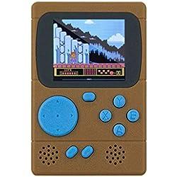 """STRIR Retro Mini 3"""" Emulador de Consola de Juegos Portátil Incorporado 198 Video de Juegos (Marrón)"""
