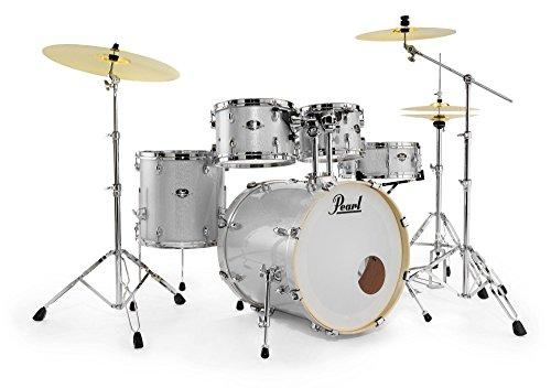 """Pearl EXX705BR/C700 - Export Drumkit (20"""" Schlagzeug-Set, inkl. Becken, Stative und 830er Hardware) Arctic Sparkle"""