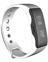 Smartwatch Demiawaking Reloj Inteligente Hombres Mujeres Smart Wrist Band Moda Reloj Deportivo L28t Reloj Outdoor Fitness (Blanco)