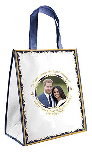 Royal Heritage H.r.h Harry y Megan Markle conmemorativa de la boda bolsa de la compra, tela, multicolor, 35x 18x 18cm