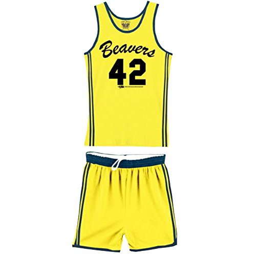 eavers 42 Scott Howard Werewolf Basketball Jersey Complete Kostüm, Large (Wolf Teen Kostüme)