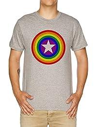 Vendax Orgullo Escudos - Arco Iris Camiseta Hombre Gris
