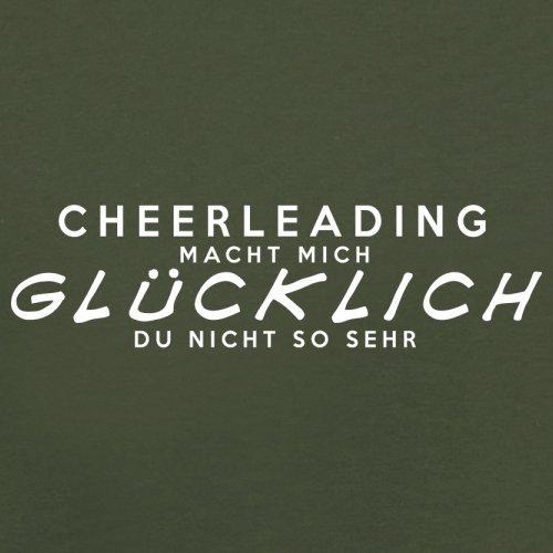 Cheerleading macht mich glücklich - Herren T-Shirt - 13 Farben Olivgrün
