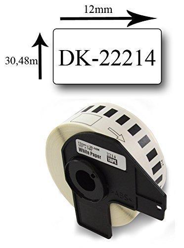 Preisvergleich Produktbild Bubprint Etiketten endlos kompatibel für Brother DK-22214 #2214 12mm x 30,48m