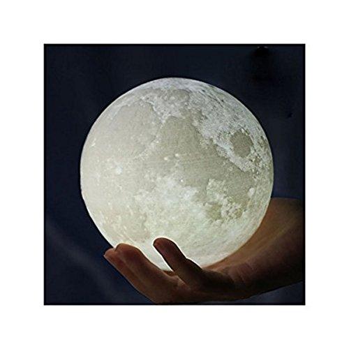 Mond Lampe Nachtlampe,Goldbeing 3D Mond Lampe Nachtlicht LED Nacht Tischlampe Kinderzimmerlampe, Moderne Skulptur 3D-Druck aus PLA Aufladbar Nightlight Geschenk für Freund Weihnachten Geburtstag