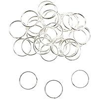 KurtzyTM Confezione da 120 Anelli Apribili in Metallo Placcato Argento da 18 mm per Realizzare Gioielli,