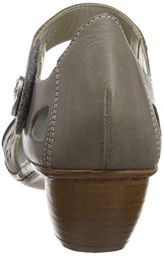 Rieker - 43715 42, Scarpe col tacco Donna Gris (Steel/Oro/Altsilber)