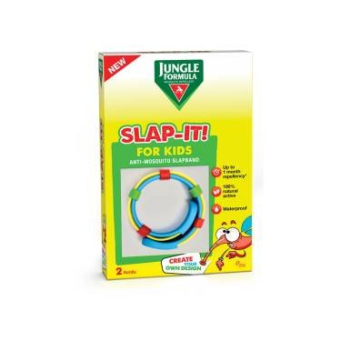 JUNGLE FORMULA - SLAP IT PER BAMBINI , BRACCIALETTO A SCATTO PER ZANZARE