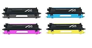 Recyclé compatible avec 4 ampoules de rechange pour imprimante brother tN - 135BK tN135C tN135M///toner xL tN135Y 4Set)