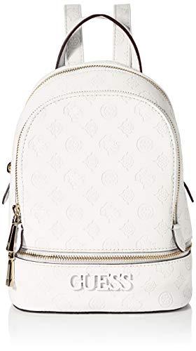 Guess Damen Skye Backpack Rucksack, Elfenbein (Ivory), 9x26.5x20 centimeters