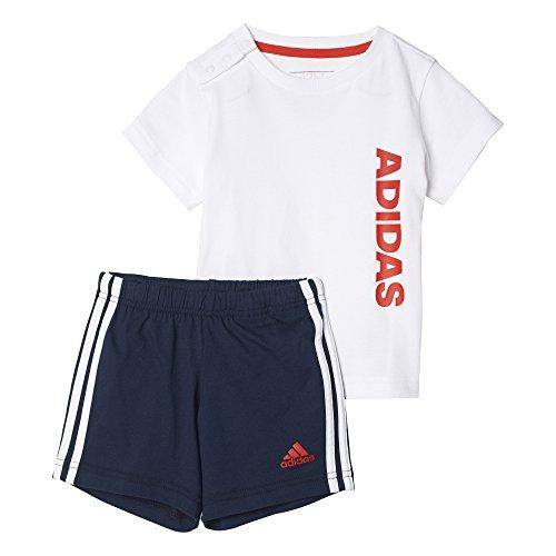 adidas I Sum Set Linea Set T-Shirt mit Shorts, Kinder, Kinder, I Sum Set Linea, weiß (weiß/Rojbas)