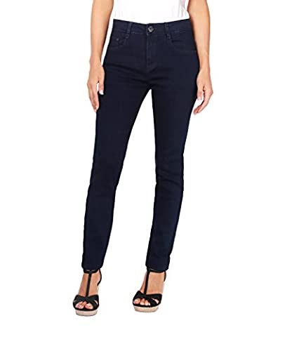 5326-NVY-16: Jeans Taille Haute (44,Bleu marine)