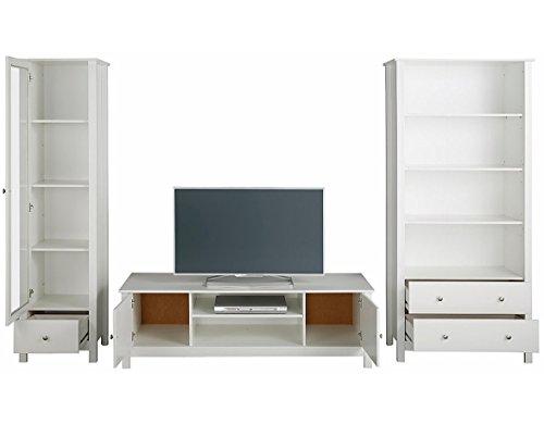 LifeStyleDesign 7012058 Wohnwand, Holz, weiß, 282 x 45 x 180 cm - 2