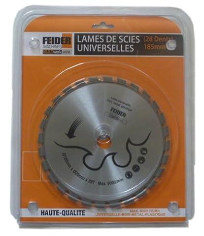 Feider F185LU Lame universelle multi-matériaux 185 x 20 mm 28 Dents