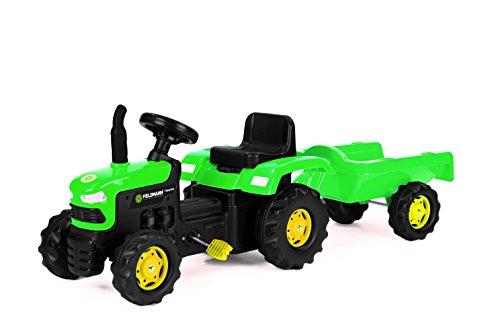 Buddy Toys - Tractor a pedal con remolque extraíble (Fast CR a.s. BPT 1012)