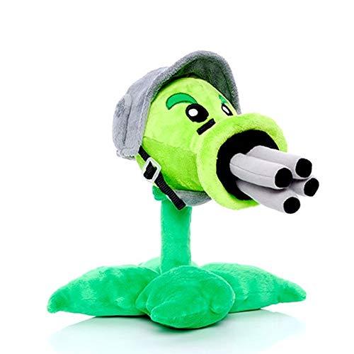 xuritaotao 30 cm PVZ Gatling Peashooter Plüschtiere Puppe Stofftiere Spielfigur Statue Baby Spielzeug Für Kinder