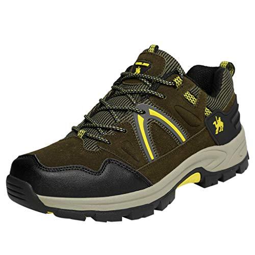 MISSQQScarpe da Montagna Uomo Scarpe da Trekking Traspirante Scarpe da Escursionismo Antiscivolo Scarpe da Arrampicata