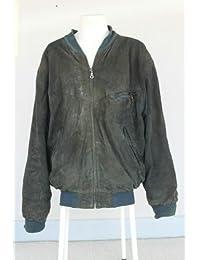 Cazadora de piel tamaño 52 L Large vintage 1970 maquiavelo 70s cazadora de piel Italia