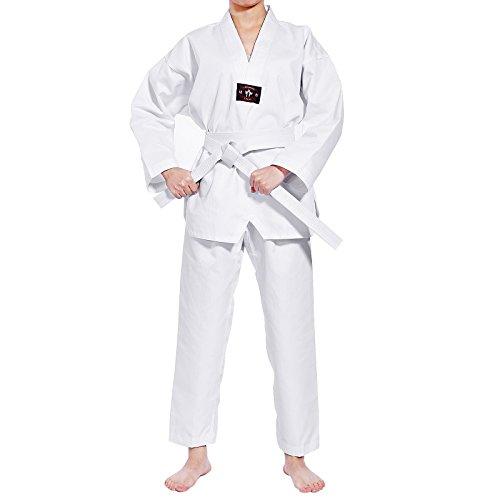 Karateanzug Renshu Taekwondo kampfsport Kinder Anzug mit Guertel bis 160?
