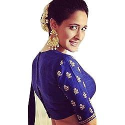 Lahenga Choli M&M World Women's Blue Benglory Chaniya Choli